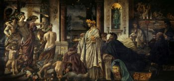 The Symposium   Anselm Feuerbach   oil painting