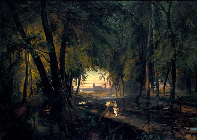 Forest path near Spandau | Carl Blechen | oil painting