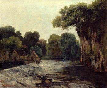 The Weir at the Mill | Gustave Courbet | oil painting
