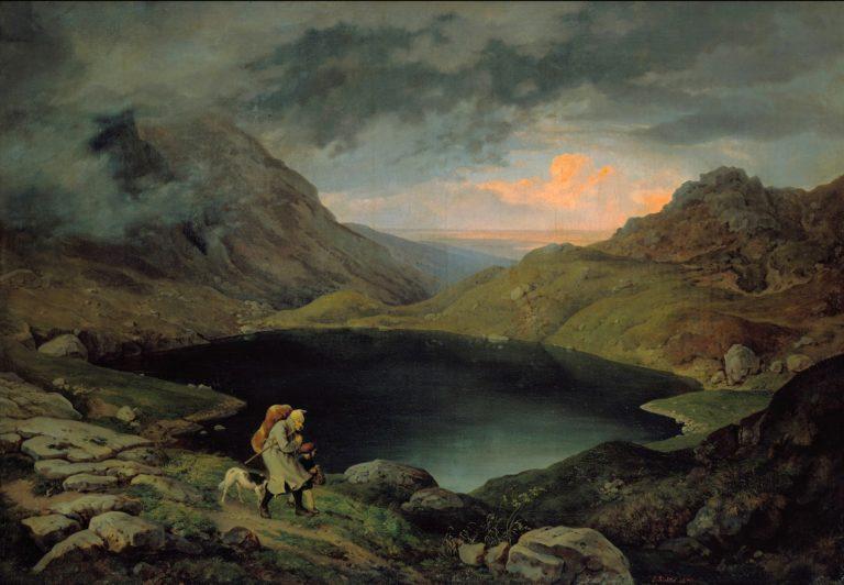 Lake in the Riesengebirge   Gustav Karl Ludwig Richter   oil painting