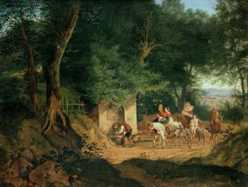 The Well in the Wood at Ariccia   Gustav Karl Ludwig Richter   oil painting