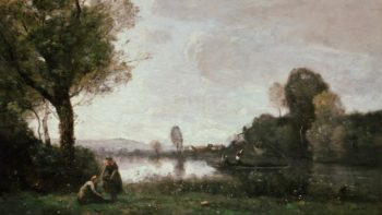 Seine Landscape near Chatou | Jean Baptiste Camille Corot | oil painting