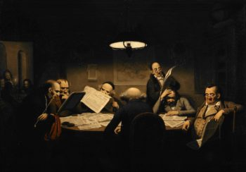 The Reading Room | Johann Peter Hasenclever | oil painting