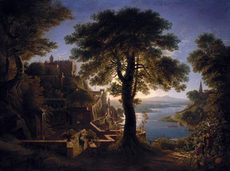 Castle by the River | Karl Friedrich Schinkel | oil painting