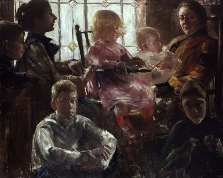The Family of the Painter Fritz Rumpf   Lovis Corinth   oil painting