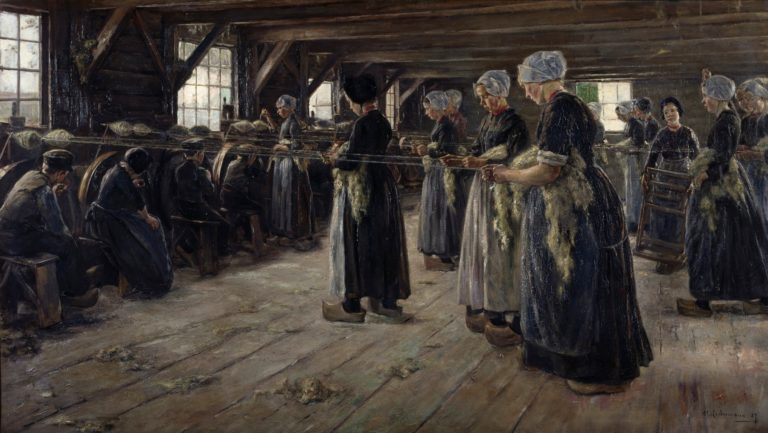 The Flax Barn at Laren | Max Liebermann | oil painting