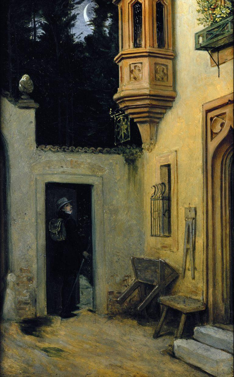 Farewell at Dawn | Moritz von Schwind | oil painting