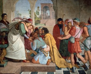 Joseph Reveals Himself to His Brothers | Peter von Cornelius | oil painting