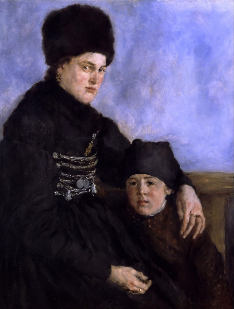 Dachau Woman and Child | Wilhelm Leibl | oil painting
