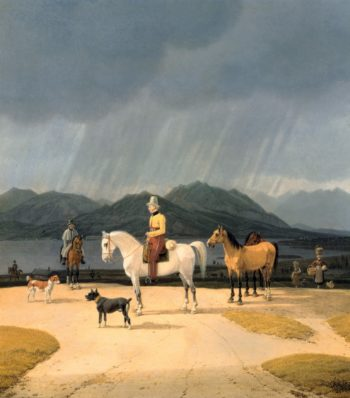Riders at the Tegernsee | Wilhelm von Kobell | oil painting