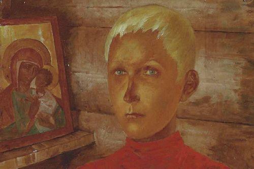 Vasya est 1920 | Petrov Vodkin Kuzma Sergeevich | oil painting
