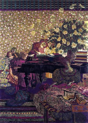 Figures in an Interior Music | Edouard Vuillard | oil painting