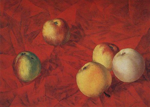 Apples 1917 | Petrov Vodkin Kuzma Sergeevich | oil painting
