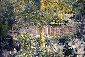 Foliage Oak Tree and Fruit Seller | Edouard Vuillard | oil painting