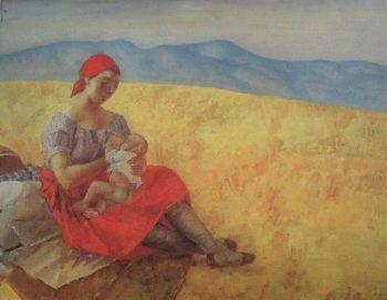 Mother 2 1913 | Petrov Vodkin Kuzma Sergeevich | oil painting