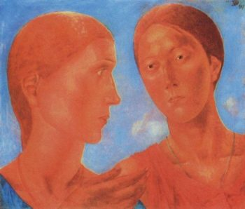 Two 1917 | Petrov Vodkin Kuzma Sergeevich | oil painting