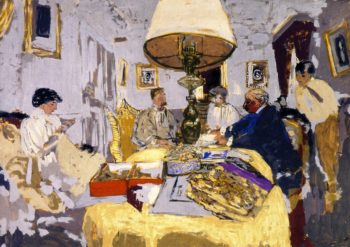 Friends around the Table | Edouard Vuillard | oil painting
