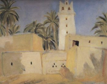 Negro village 1907 | Petrov Vodkin Kuzma Sergeevich | oil painting