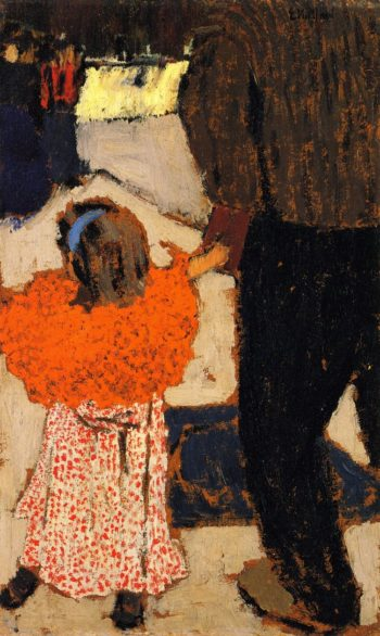 Girl Wearing an Orange Shawl | Edouard Vuillard | oil painting