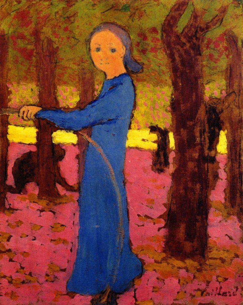 Girl with a Hoop   Edouard Vuillard   oil painting