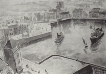 Port of Dieppe 1929 | Petrov Vodkin Kuzma Sergeevich | oil painting
