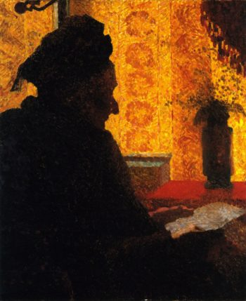 Grandmother Michaud in Silhouette | Edouard Vuillard | oil painting