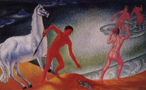 thirsty warrior 1915 | Petrov Vodkin Kuzma Sergeevich | oil painting