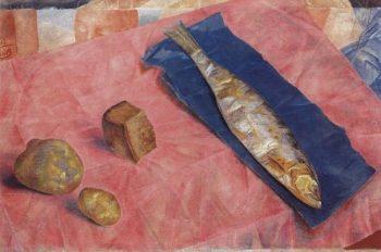 Herring 1918 | Petrov Vodkin Kuzma Sergeevich | oil painting