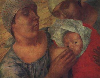 Motherhood 1925 | Petrov Vodkin Kuzma Sergeevich | oil painting