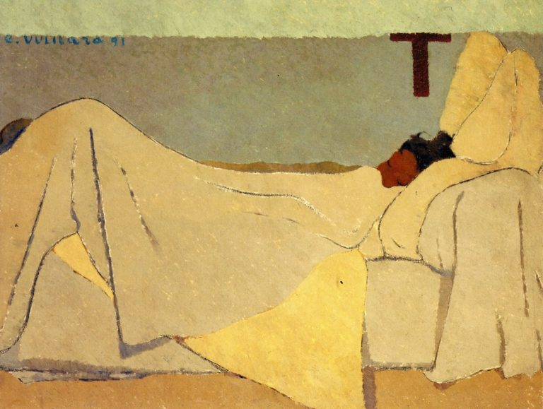 In Bed | Edouard Vuillard | oil painting
