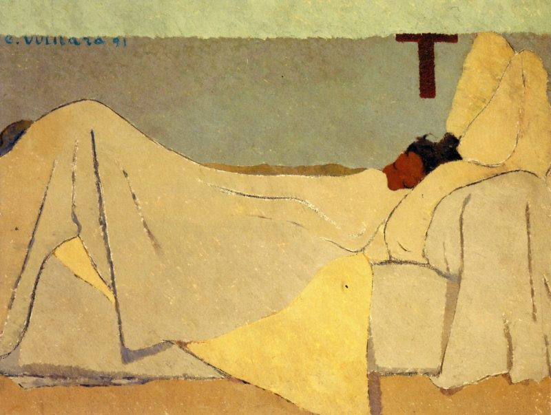 In Bed | Edouard Vuillard | oil painting