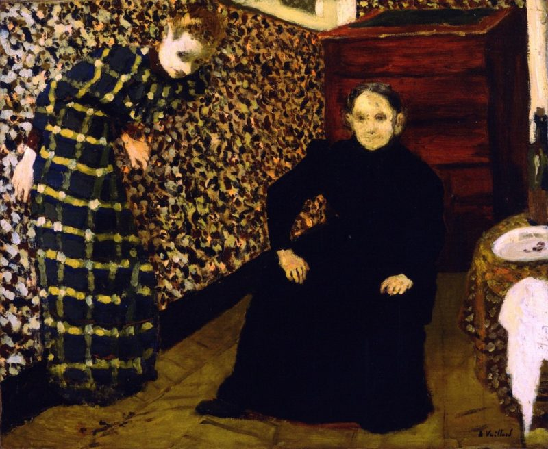 Interior Mother and Sister of the Artist | Edouard Vuillard | oil painting