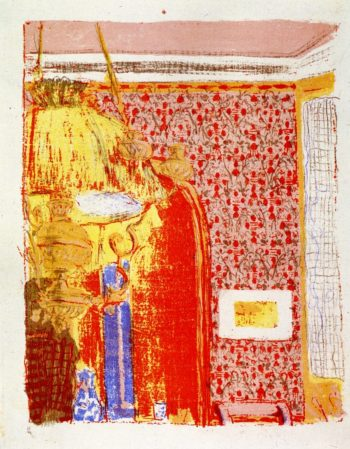 Interior with Pink Wallpaper | Edouard Vuillard | oil painting