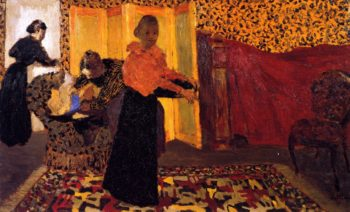Interior with Red Bed | Edouard Vuillard | oil painting