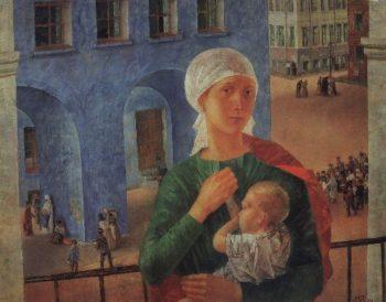 1918 in Petrograd 1920 | Petrov Vodkin Kuzma Sergeevich | oil painting