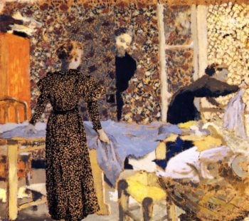 Interior with Work Table | Edouard Vuillard | oil painting