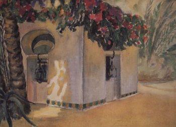Garden Benevento Sahara 1907 | Petrov Vodkin Kuzma Sergeevich | oil painting