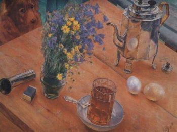 Morning still life 1918 | Petrov Vodkin Kuzma Sergeevich | oil painting