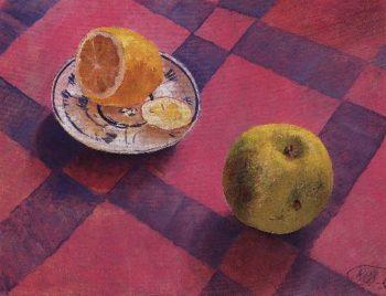 apple and lemon 1930 | Petrov Vodkin Kuzma Sergeevich | oil painting