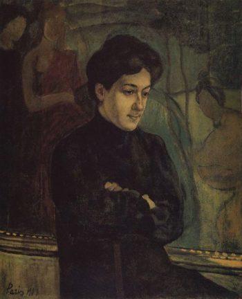 Portrait MF Petrova Vodkin 1907 | Petrov Vodkin Kuzma Sergeevich | oil painting
