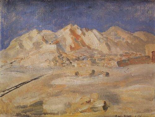 Biribi Africa 1907 | Petrov Vodkin Kuzma Sergeevich | oil painting
