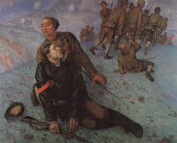 Death Commissioner 1928 | Petrov Vodkin Kuzma Sergeevich | oil painting