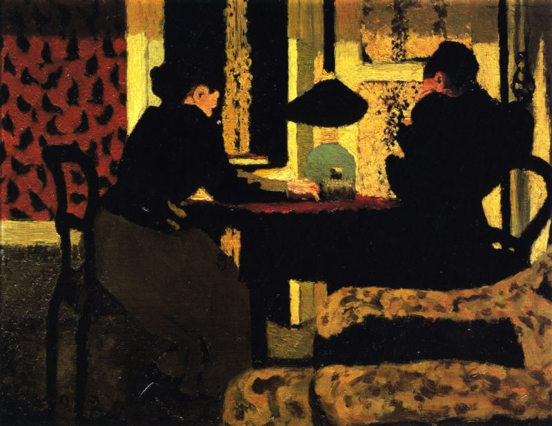 In the Lamplight | Edouard Vuillard | oil painting