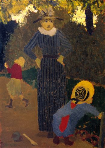 In the Public Garden The Straw Hat | Edouard Vuillard | oil painting