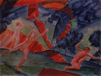 hurricane 1914 | Petrov Vodkin Kuzma Sergeevich | oil painting