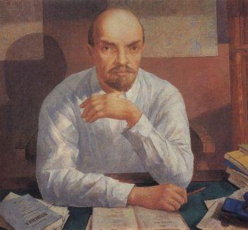 Portrait of VI Lenin 1934 | Petrov Vodkin Kuzma Sergeevich | oil painting