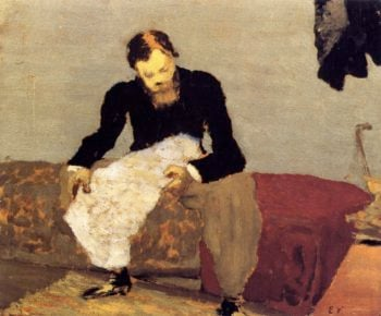 Ker Xavier Roussel Reading the Newspaper | Edouard Vuillard | oil painting