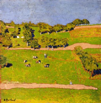 Landscape at Romanel | Edouard Vuillard | oil painting