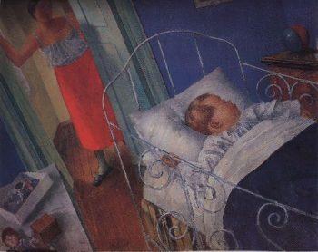 In the nursery 1925 | Petrov Vodkin Kuzma Sergeevich | oil painting