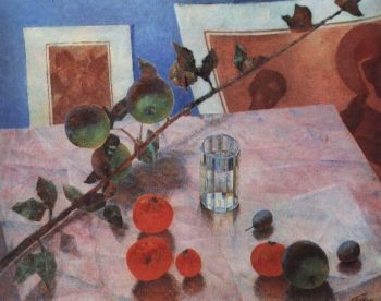 Pink Still Life 1918 | Petrov Vodkin Kuzma Sergeevich | oil painting